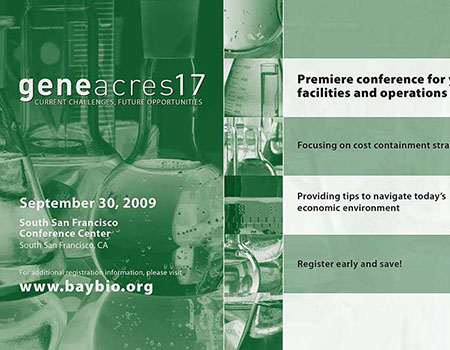 BayBio Gene Acres 17 save the date card