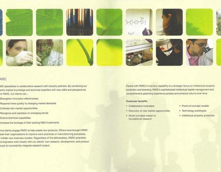 Palo Alto Research Center brochure sample spread