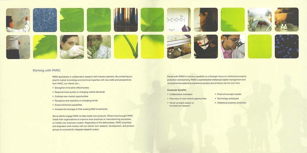 palo alto research center brochure sample spread  neptune