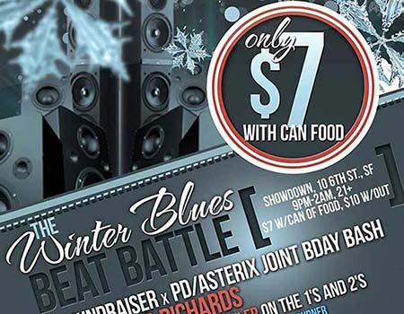 Winter Blues Beat Battle flyer